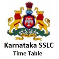 Karnataka SSLC Time Table 2020